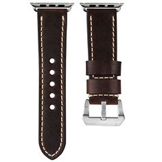 USA Oiled Leather Geckota Watch Band Ivory Stitch for Apple Watch 42mm Chestnut Brown -- Be sure to check out this awesome product.