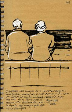 Old Couple in a Kraft journal