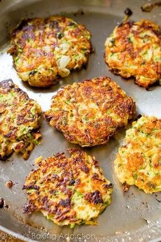Golden brown, crispy, and light zucchini fritters. Hold onto this recipe!