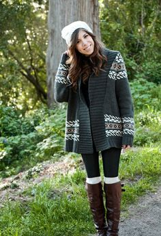 Big comfy sweater with boots