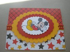 Handmade Mickey Mouse Birthday Card by GreetingsfromDiana on Etsy, $4.00