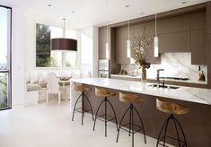 Modern-kitchen : Warm Nice Neutral Kitchen Design Ideas With Modern Brown Kitchen ~ glubdubs