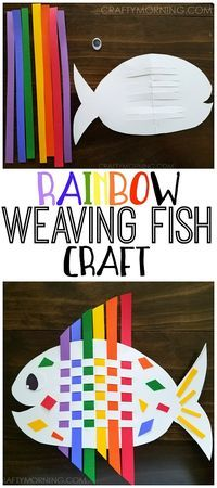Diy poisson coloré avec bandelette de papier colorée bricolage facile enfant