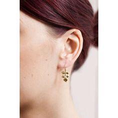 BuyDower & Hall White Topaz Wild Rose Leaf Drop Earrings, Gold Online at johnlewis.com