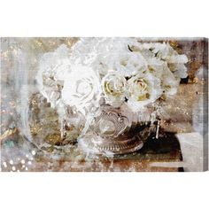 Serving Roses Canvas Print, Oliver Gal