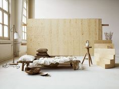 Puristic and cosy bed room