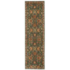 Ancient Times Ancient Treasures Teal Area Rug