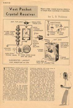 Vest Pocket Crystal Radio