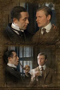 "Soviet ""Sherlock Holmes."" Cast: Sherlock - Vasily Livanov, Dr. Watson - Vitaly Solomin. Directed by Igor Maslennikov. Composer Vladimir Dashkevich"