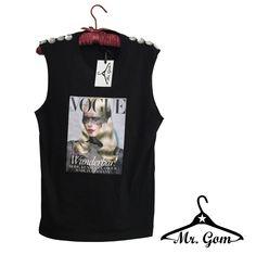 #tshirt y con perlas blancas. Diseño Mr.Gom