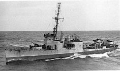 USS Leary (DD-158) Sunk after being torpedoed by the German submarine U-275 in the North Atlantic, 24 December 1943.