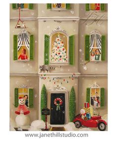 The Peppermint Family Christmas.  Art Print by janethillstudio, $26.00