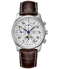 Longines Watch, The Master Collection Automatic Moon Phase Chronograph L26734783 - Men's Watches - Jewelry & Watches - Macy's