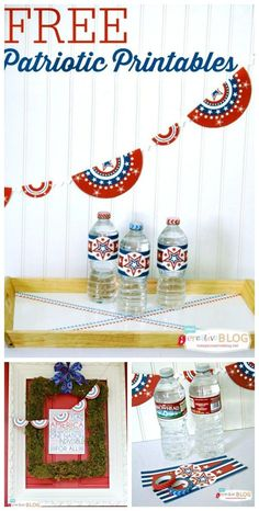 Free Patriotic Printables   Red White and Blue Printables   Free 4th of July decorating ideas   Free Printables   Memorial Day Printables   TodaysCreativeLife.com Fourth Of July Food, 4th Of July Celebration, 4th Of July Party, July 4th, July Game, Diy Pins, Veterans Day, Bbq Party, Memorial Day