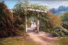 The Rose Garden - June Dudley Fine Art Paintings and Prints