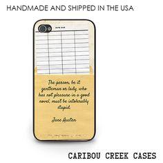 Jane Austen Quote Phone Case  Jane Austen door CaribouCreekCases