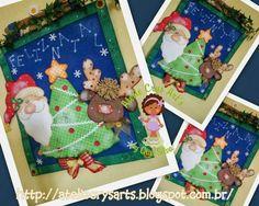 cuaderno papa noel, árbol de navidad y reno