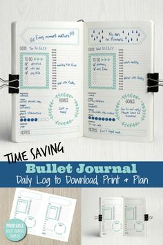 I'm so glad I found this cute bujo daily - such a time saver!   Creative Organization: Bullet Journal Daily Log Printable insert ~ Bullet journal spread ~ planner page insert ~ bujo daily spread ~ bujo daily layout #affiliate #bulletjournaldailylog #bujospread #planneraddict