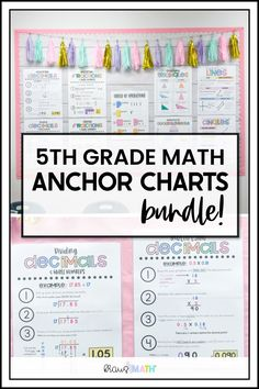 Forms of Numbers & Place Value Posters/Anchor Charts BUNDLE (Decimal Version)! TEKS Aligned: 5.2A, 5.2B, 5.2C, 4.2B, 4.2F #posters #anchorcharts #5thgrademath Math Worksheets, Math Resources, Math Activities, Word Poster, Math Poster, Math Key Words, 4th Grade Math Games, Elementary Math, Upper Elementary