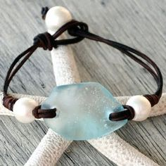 Beach glass and pearls because that's my kind of Beachy style...