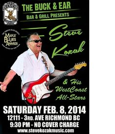 Steve Kozak and His WestCoast All-Stars Ear Bar, West Coast, All Star, Blues, Stars, Music, Musica, Musik, Sterne