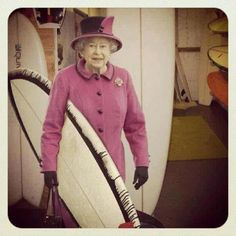 She shreds, too. #queen #surfing