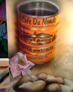 Making progress on this NOLA painting I couldn't wait to get started on.  #art #drawing #illustration #painting  #acrylic #goldenacrylics #airbrush #trekell #iwata #nola #neworleans #cafedumonde #frenchquarter #jacksonsquare #followyournola #nolaart #coffee #beignets by jim_couturier_tattoos