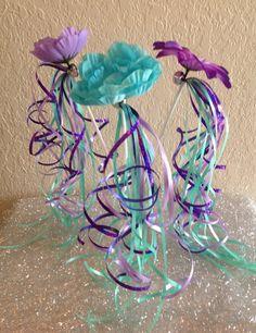 12 Little Mermaid Wands Princess Fairy Wands by partiesandfun