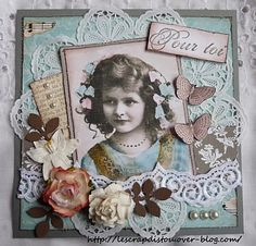 carte vintage Album Vintage, Vintage Scrapbook, Wedding Scrapbook, Scrapbook Albums, Vintage Cards, Etiquette Vintage, Collage Portrait, Shabby Vintage, Shabby Chic