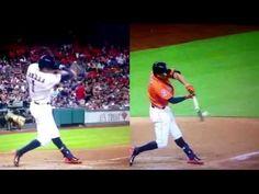 Carlos Correa-An Amazing Rookie With Amazing Hitting Mechanics Baseball Videos, Baseball Stuff, Baseball Cards, Baseball Hitting Drills, Baseball Training, Softball, Basketball, Animation, Amazing