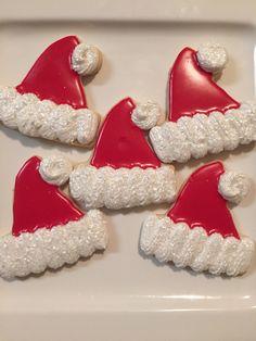 #Santa hat sugar #cookies  | Courtney's Confections | @courtneysconfectionsok