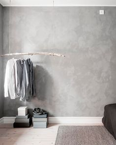 Bedroom clothes rack inspiration | Ahre