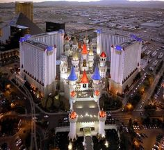 Las Vegas, and we stayed at the Excalibur! Great memories with Moms' Sisters!