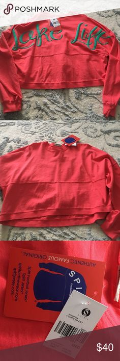 NWT crop top spirit jersey NWT crop top Lake Life Spirit jersey Jackets & Coats