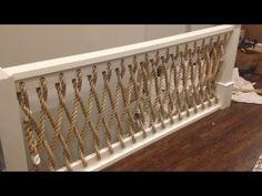 Coastal Rope Stair Railing Install - Design by @aschottmuller #coastaldecor #stairs #coastal #nautical #rope #farmhousestyle #lakehouse #beachhouse