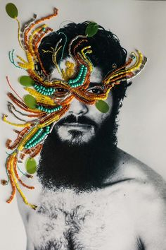 Brazilian Tropical Soul: Embroidered Pictures With Beads And Sequins In New Series By Aline Brant. Embroidery On Clothes, Modern Embroidery, Embroidery Art, Collages, Collage Art, Portrait Embroidery, A Level Textiles, Plastic Art, A Level Art