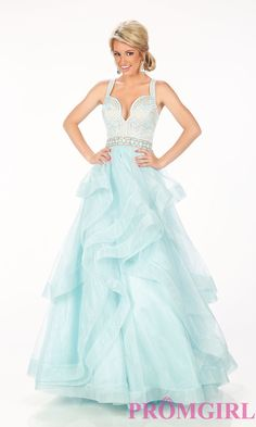 Long Blue Layered A-Line Prom Dress from Paris by Mon Cheri 💟$397.99 from http://www.www.petsolemn.com   #girl #mon #princess #sexy #paris #prom #cheri #long #blue #aline #by #layered #promdress #from #dress