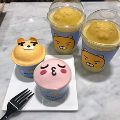 Cute Food, A Food, Good Food, Cute Desserts, Dessert Recipes, Korean Dessert, Aesthetic Food, Pink Aesthetic, Korean Food