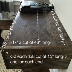 Join 2 boards for larger shelf under the tv at refreshrestyle.com