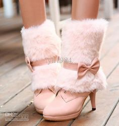 snow boots fur boots pink bridesmaid shoes wedding