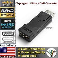 Displayport NOT USB TO Hdmi Converter Audio Adapter DP Male Hdmi Female Coupl | eBay