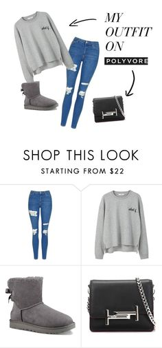 """""""Sans titre #43"""" by minii92 on Polyvore featuring mode, Topshop, MANGO, UGG et Tod's"""