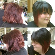 Before and after; Cut and color.