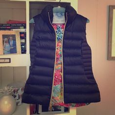 Lilly vest! Never worn - absolutely perfect! The most versatile vest, perfect for layering or using as a spring jacket. Darling inner print that peeps through. Fits like a 4. Lilly Pulitzer Jackets & Coats Vests