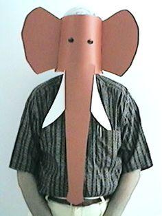 Letter E - Elephant Mask