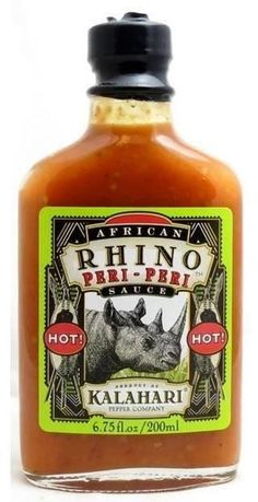 African Rhino Peri-Peri Pepper Sauce - Hot