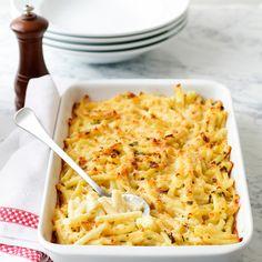 Découvrez la recette gratin de pâtes sur Cuisine-actuelle.fr.