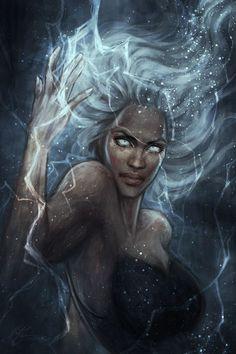 Afrofuturism Cyberpunk Storm X-Men Comic Book Characters, Marvel Characters, Comic Books Art, Fantasy Characters, Comic Art, Storm Xmen, Storm Marvel, Marvel Comics, Marvel Art