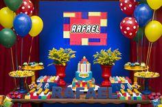 CENTRO DE MESA FESTA INFANTIL LEGO - Pesquisa Google