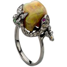 Soho Boutique by Neda Behnam 18k Rose Gold 1 1/5ct TDW Diamond and Gemstone Ring (SI1-SI2)   Overstock™ Shopping - Top Rated Gemstone Rings